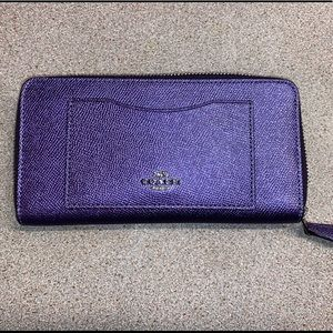 Coach Large Metallic Wallet